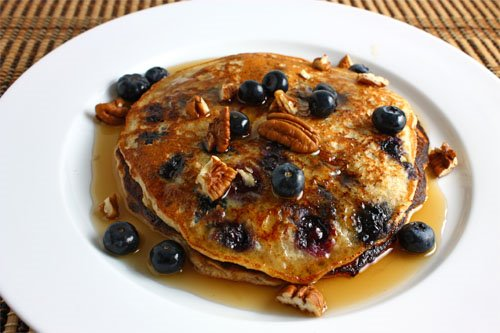 AF Institute | Blueberry Walnut Oatmeal Pancakes