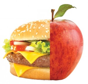 Apple vs burger